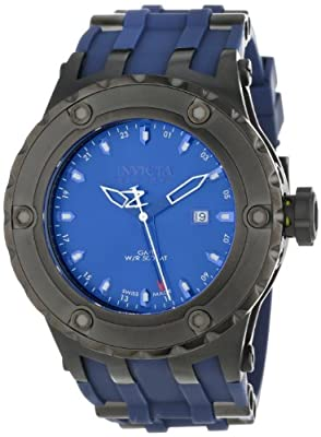 Invicta Men's 12053 Subaqua Reserve GMT Dark Blue Dial Dark Blue Polyurethane Diving Watch