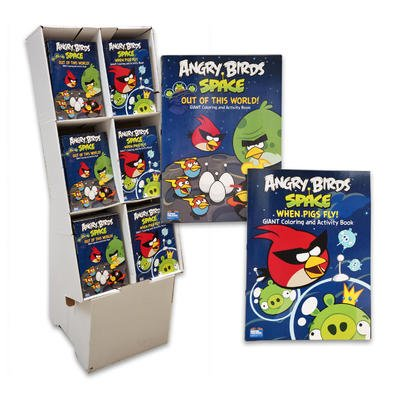 2pc 96pgs Angry Birds Space Coloring & Activity Book - 1