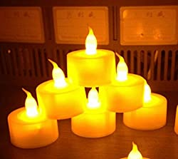 LED Tea Light - Yellow Color (Pack of 6)