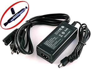 iTEKIRO AC Adapter Power Supply Cord for JVC GR-SXM260U GR-SXM260US GR-SXM265 GR-SXM265U GR-SXM265US GR-SXM30 GR-SXM37 GR-SXM37UC GR-SXM37US GR-SXM38 Video Cameras Camcorders + iTEKIRO Lens Cleaning Pen