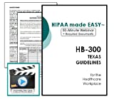 HIPAA Texas State HB 300 Training Webinar with Required Documents