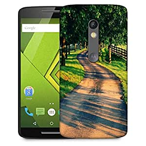 Snoogg Pathway Designer Protective Back Case Cover For Motorola Moto G4