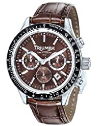 Men's Chronograph Brown Dial Brown Leather