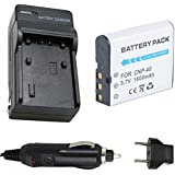 Battery and Charger for Casio Exilim EX-Z1000, EX-Z1050, EX-Z1080, EX-Z1200 Digital Camera