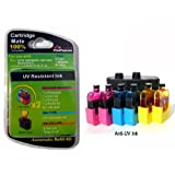PrintPayLess� Brand Anti-UV Auto Ink Refill Kit for DELL(non-OEM) Series 5, Series 6, Series 9, Series 12, Tricolor (Cyan, Yellow, and Magenta) ink cartridges - 6 Refills ~ PrintPayLess