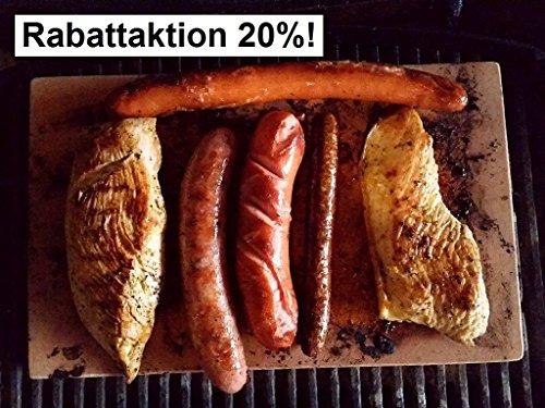 Grillstein 34 Heißer Stein Grillplatte Zubehör für Gasgrill und Elektrogrill Grillen auf dem Salzbett