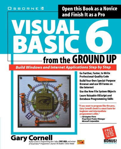 Visual basic 6 from the ground up pdf download by gary cornell this book holds a lot of science knowledge that you do not know often it takes much more courage to read books than to fight on the battlefield fandeluxe Choice Image
