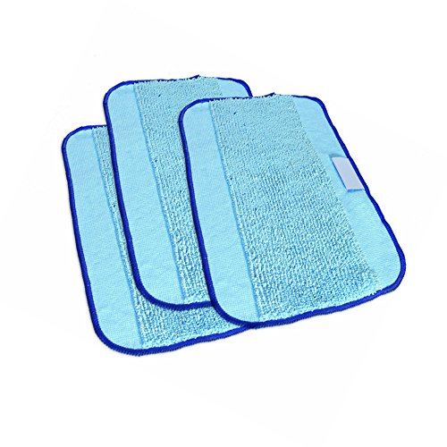 Washable and Reusable Microfiber 3- Pack ,Pro-Clean Mopping Cloths for iRobot Braava 380 380t 320 Mint 4200 4205 5200 5200C Robot (3) (Neat Robotic Vacuum compare prices)