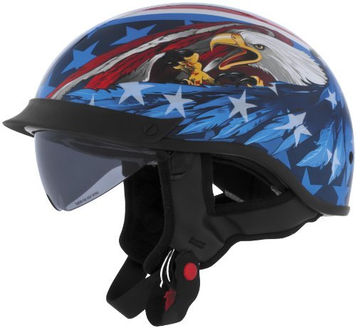 Cyber Helmets U-72 Half Graphics Helmet US Eagle Extra Large XL 640874