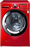 LG 4.5CF Front Load Steamwasher Red
