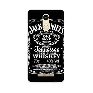 Ebby JD Whiskey Premium Printed Case For Xiaomi Redmi Note 3