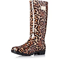 Nicole Miller Women's Rainyday Rain Boot (Leopard)
