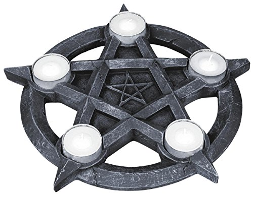 Nemesis Now Pentagram Tealights Porta candela nero