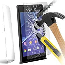 buy Onx3® Sony Xperia M2 Case Custom Made Tempered Glass Crystal Clear Lcd Screen Protectors Packs With Polishing Cloth & Application Card ( 1 Pack )