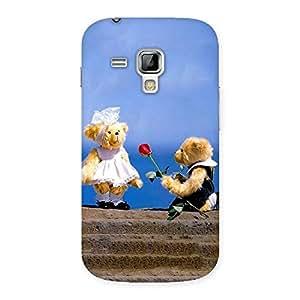 Impressive Proposal Teddy Multicolor Back Case Cover for Galaxy S Duos