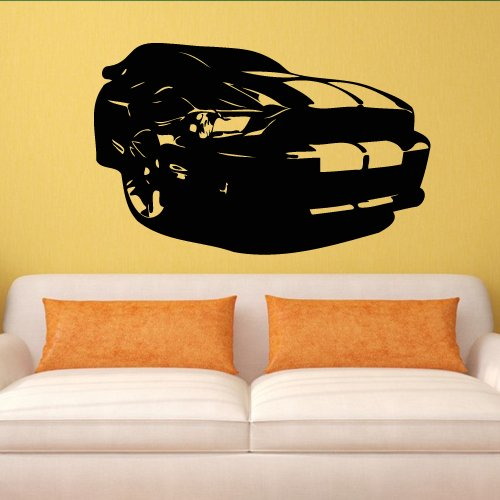 Wall Decal Decor Decals Art Sticker Cars Race Bolide Track Speed Sport Wheel Gift Bedroom Children (M798) front-916383