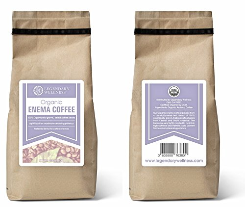 Organic Enema Coffee - Light Roast & Medium Grind for BEST Cleansing Potency, 100% USDA Certified Organic for Gerson Therapy coffee enemas, 12 oz. bag, $1 of each sale donated to Cancer Research (Best Light Roast Coffee compare prices)