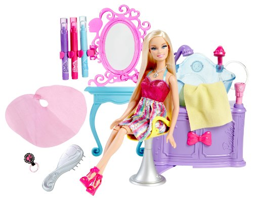 Barbie Hairtastic Colour and Wash Salon