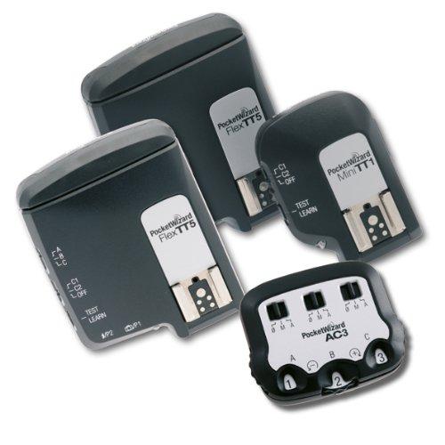 Pocketwizard Kit pour appareils photo Canon : 1 x MiniTT1, 2 x Flex TT5 et 1 x ZoneControllrt AC3