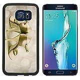 MSD Premium Samsung Galaxy S6 Edge Aluminum Backplate Bumper Snap Case Argentine tango stilettos on abstracrt background Image ID 27287897