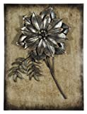 Pacific Home Dusky Grey Metal Flower with Frame Wall Art