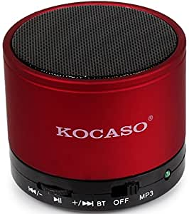 Kocaso Mini Portable Bluetooth Speaker With Bass Xpansion System And Rechargeable Battery Wireless Speaker (Red)