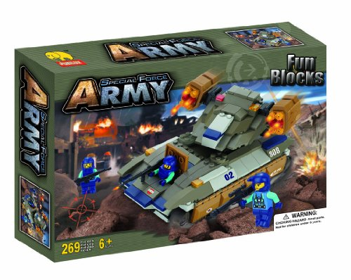 Fun Blocks (Compatible With Lego) Army Troopers Brick Set F (269 Pieces)