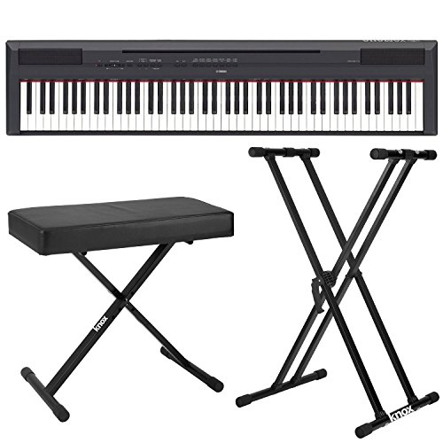 Yamaha P115B 88-Key Graded Hammer Standard Digital Piano Bundle with Knox Double X Stand and Knox Large Bench (Used Digital Piano compare prices)