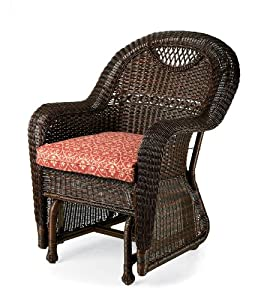 Prospect Hill Handwoven Resin Wicker Outdoor Chair Glider In Ch