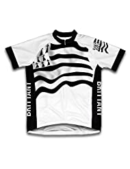 Brittany Flag Short Sleeve Cycling Jersey for Women