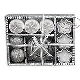 GOYAL® Silver Metalic Luxury Gift Set Candle SET
