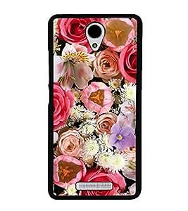 Multi Colour Flowers 2D Hard Polycarbonate Designer Back Case Cover for Xiaomi Redmi Note 2 :: Redmi Note 2 Prime