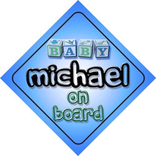 michael-on-board-baby-boy-auto-a-forma-di-cartello-regalo-per-bambini-e-neonati