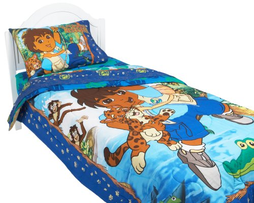 Bestprice go diego go twin comforter kids bedding for Go diego go bedding