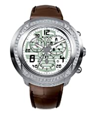 Affordable!! RSW Men's 4130.BS.L9.52.F1 Volante Round Silver Dial Chronograph Sapphire Crystal Diamond Watch