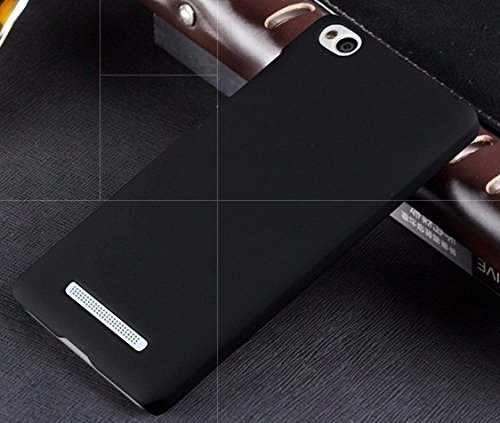 TCA Matte Xiaomi Mi 4i Mi4i Rubberized Finish Hard Case - Black With Mini Stylus & Eject Pin