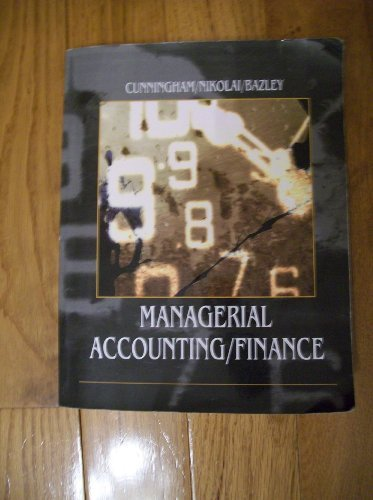 Managerial Accounting/Finance