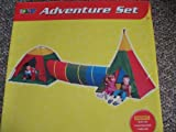 Jungle Adventure Play Set Indian Tee Pee, Tunnel and Dome Tent