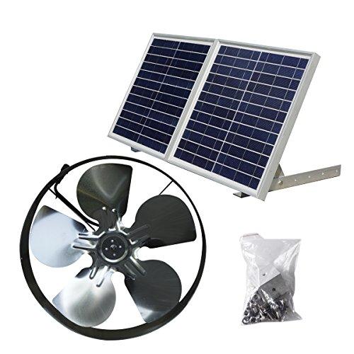 Dc House 25w Solar Powered Attic Ventilator Gable Roof