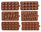 Set of 6 Non-stick Silicone Chocolate Candy Making Mold Tray - Romantic Music with Guitar and a Bunch of Roses for Your Sweet Love