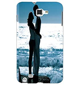 SAMSUNG GALAXY NOTE 1 LOVE COUPLE Back Cover by PRINTSWAG