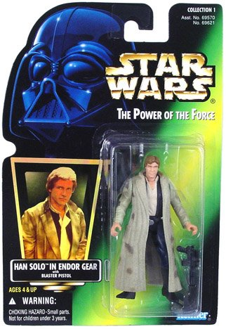 Star Wars Power of the Force - Han Solo in Endor Gear Action Figure