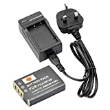 DSTE® NP-95 Rechargeable Li-ion Battery + Charger DC29U for Fujifilm FinePix F30, FinePix F31fd, FinePix Real 3D W1, FinePix X100, FinePix X100LE, FinePix X100S, X-S1 and Compatible with RICOH DB-90, GXR, GXR Mount A12, GXR P10