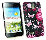 Emartbuy® Huawei Ascend G330 Butterfly Garden Clip On Protection Case/Cover/Skin