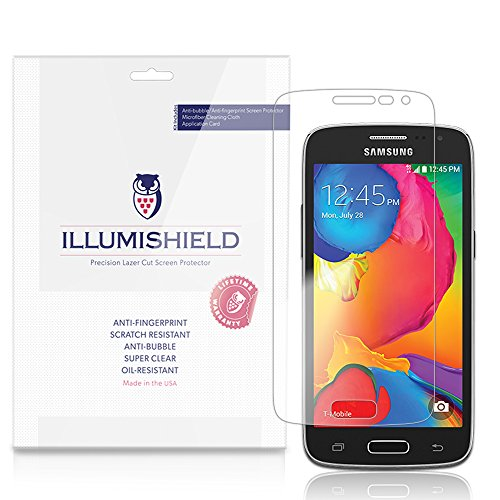 Illumishield - Samsung Galaxy Avant Screen Protector Japanese Ultra Clear Hd Film With Anti-Bubble And Anti-Fingerprint - High Quality (Invisible) Lcd Shield - Lifetime Replacement Warranty - [3-Pack] Oem / Retail Packaging