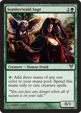Magic: The Gathering - Somberwald Sage (194) - Avacyn Restored front-457590