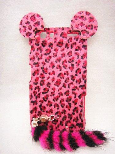 3D ear pink Leopard