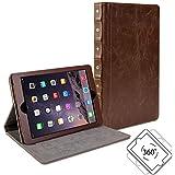 iPad mini Case, iPad Mini 3 Case, GMYLE [Book Case 360] for iPad mini / iPad mini Retina / iPad mini 3 - Brown PU Leather Rotating Swivel Case Cover