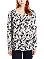 Tom Tailor Blusa printed basic blouse/507 (Blanco / Negro)