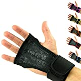 Cross Training Gloves with Wrist Support for Fitness, WOD, Weightlifting, Gym Workout & Powerlifting - Silicone Padding to avoid Calluses - Suits both Men & Women, Strong Grip - (Black, M)
